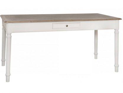 Biały stół z szufladą ravenna w prowansalskim stylu 160 cn