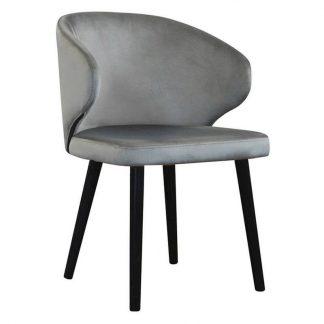 Eleganckie krzesło tapicerowane eddy