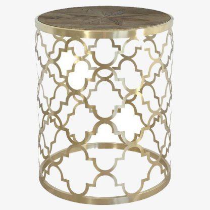 Okrągły złoty stolik glamour gl1540