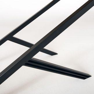 Nowoczesny dębowy stół leonard na metalowych nogach / 180x90 cm