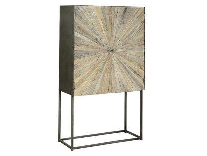 Drewniana wysoka komoda sanatan w stylu loftowym / wys. 160 cm