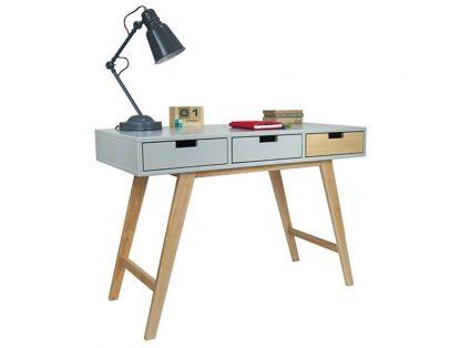 Drewniane biurko scandi w stylu skandynawskim (110 cm)