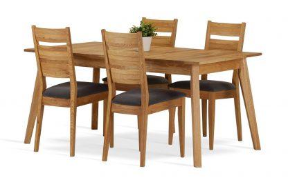 Dębowe krzesło cleo z tapicerowanym siedziskiem