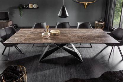 Nowoczesny rozkładany stół prometheus / blat w kolorze rdzy 180-260 cm