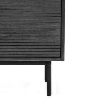 Drewniana szara komoda capella / szer. 140 cm