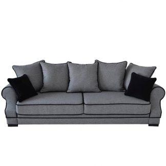 Elegancka 3-osobowa sofa geneva w angielskim stylu z funkcją spania i pojemnikiem na pościel