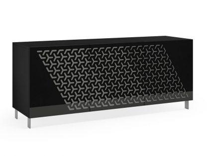 Nowoczesna komoda calisia czarno-szara z motywem geometrycznym / szer. 180 cm