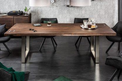 Drewniany stół mammut artwork na metalowych nogach / 240x100 cm