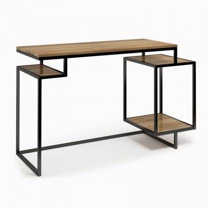 Nowoczesne biurko z kontenerkiem connect steel premie (130 cm)