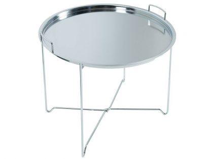 Okrągły stolik marrakesch srebrny