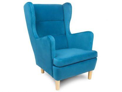 Wysyłka w 48h! niebieski fotel skandica lars