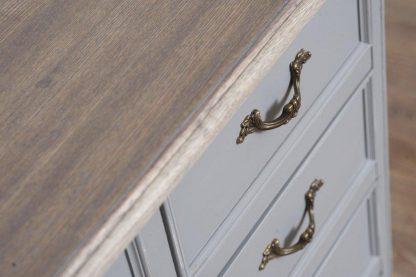 Komoda catania z 5 szufladami w stylu prowansalskim (szer.80 cm)
