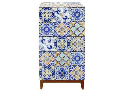 Szklana komoda carini z marokańskim wzorem