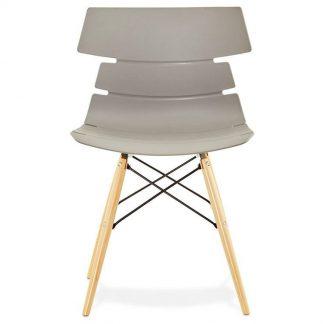Nowoczesne krzesło strata szare