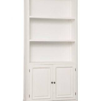 Biały regał ravenna w prowansalskim stylu 87 cm