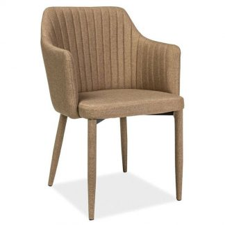 Nowoczesne krzesło tapicerowane welton beżowe