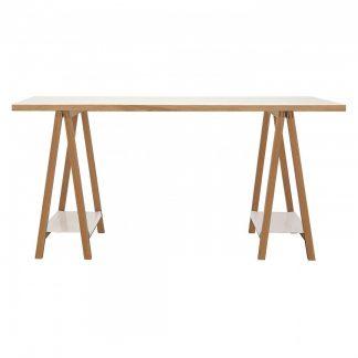 Białe biurko highbury w skandynawskim stylu (160 cm)