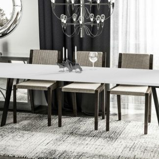 Nowoczesny rozkładany stół liwia / 130-170 cm
