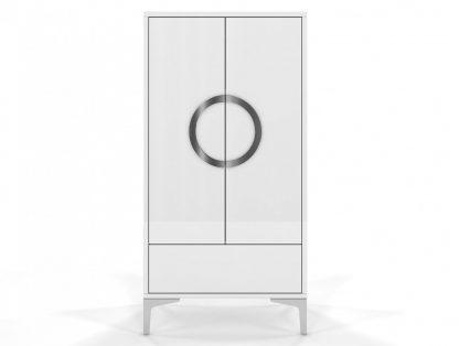 Biała wysoka nowoczesna komoda eva / wysoki połysk