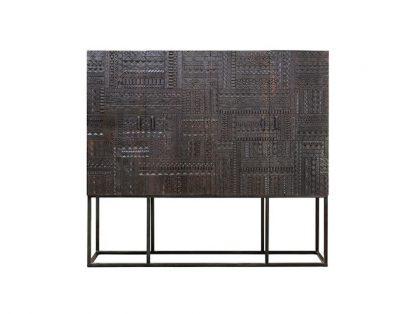 Drewniana wysoka komoda chichita  w stylu orientalnym / wys. 160 cm