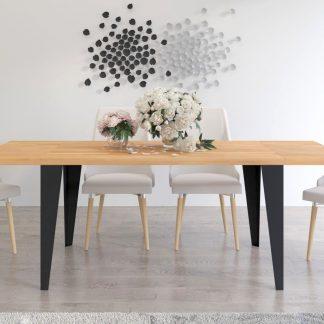 Rozkładany stół industrialny clint dla 6-12 osób (120-260). lity buk (4cm)!