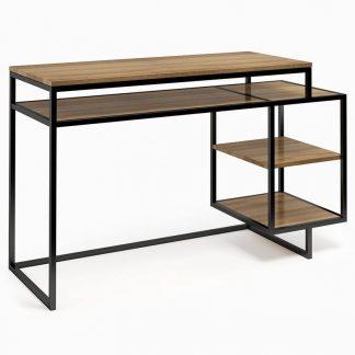Nowoczesne biurko z kontenerkiem connect steel deuxie (130 cm)