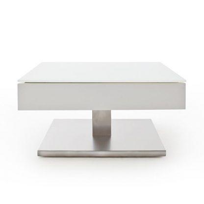 Nowoczesny biały stolik kawowy mariko / 75x75 cm
