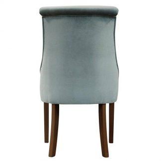 Krzesło tapicerowane alessandra z wałkiem na oparciu