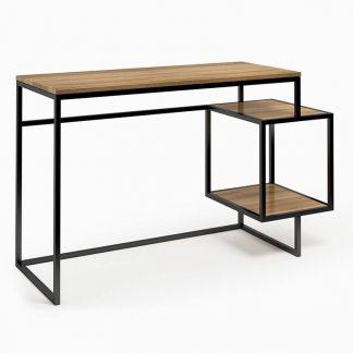 Nowoczesne biurko z kontenerkiem connect steel troisie (130 cm)