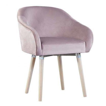 Fotel tapicerowany aura w skandynawskim stylu