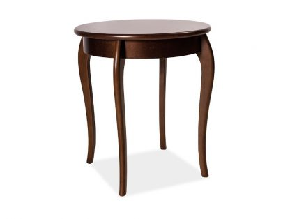 Okrągły drewniany stolik maria iii / wys. 74 cm