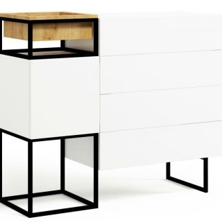 Nowoczesna komoda z szufladami box steel / szer. 120 cm