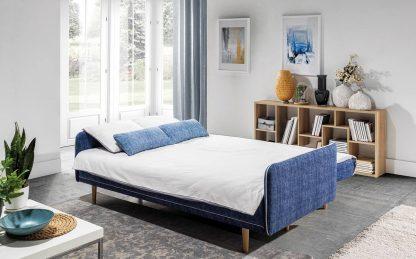 Nowoczesna sofa cordoba z funkcja spania i pojemnikiem na pościel