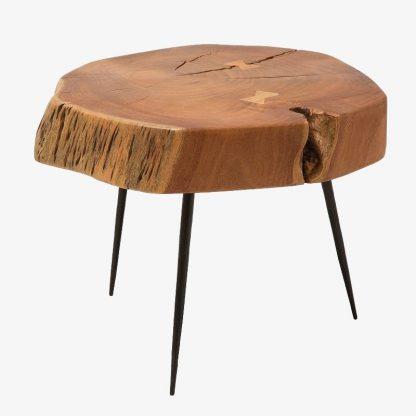Stolik kawowy goa / blat plaster drewna 60 cm