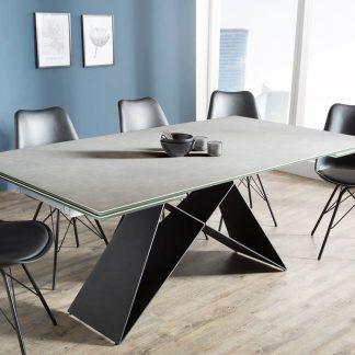 Nowoczesny rozkładany stół prometheus / blat w kolorze cementu 180-260 cm