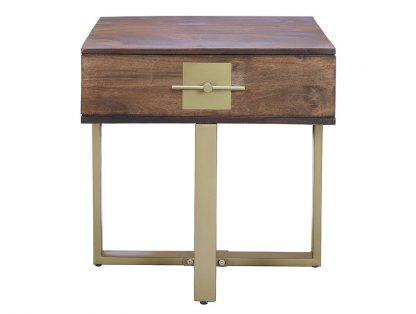 Drewniany stolik kawowy madras w stylu industrialnym