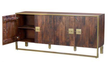 Drewniana komoda madras w stylu industrialnym