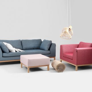 Nowoczesna rozkładana sofa ambient wood 3-osobowa