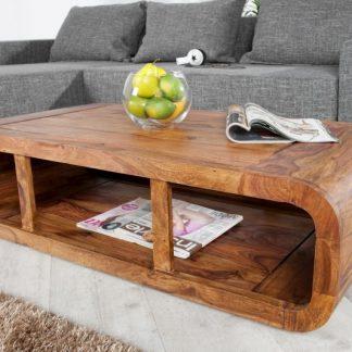 Stolik kawowy curved z drewna palisandrowego
