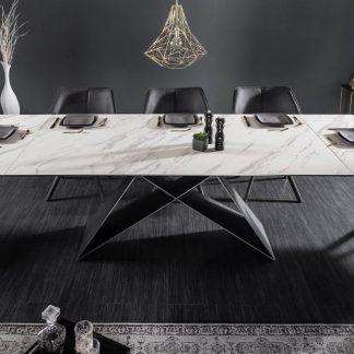 Nowoczesny rozkładany stół prometheus / blat biało-szary 180-260 cm