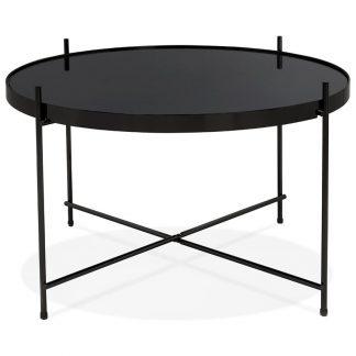 Okrągły stolik kawowy espejo medium / czarny