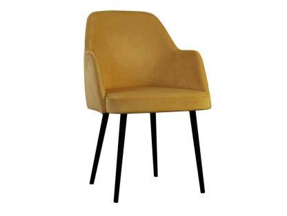 Nowoczesne krzesło tapicerowane z podłokietnikami bleik