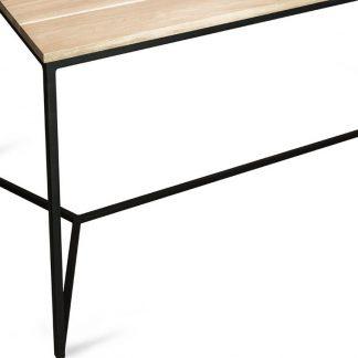 Industrialny stół rude scandi z drewianym blatem