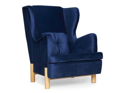 Granatowy fotel skandica ingrid navy blue