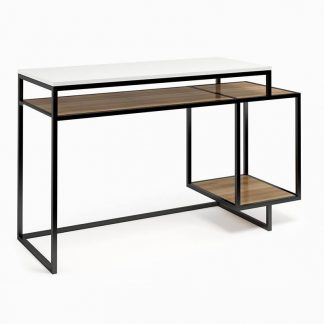 Nowoczesne biurko z kontenerkiem connect steel quatrie (130 cm)