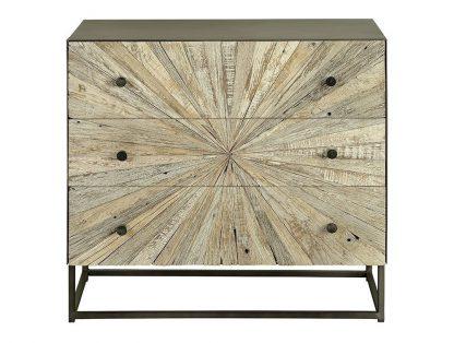 Drewniana komoda santana w stylu loftowym / wys. 71 cm
