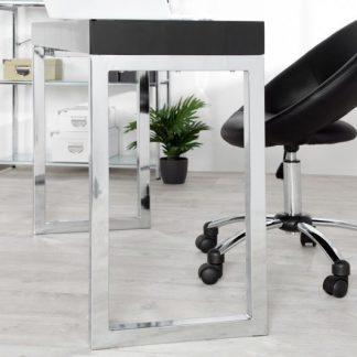 Nowoczesne czarne biurko black desk idealne pod laptopa (120 cm)