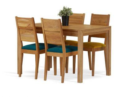 Dębowe krzesło gaja z tapicerowanym siedziskiem
