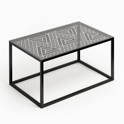 Nowoczesny stolik kawowy glast ii ze szklanym blatem / 80x50 cm
