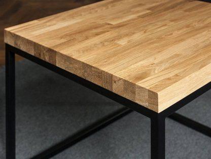 Nowoczesny stolik kawowy salle z dębowym blatem